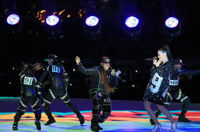 Missy Elliott steals the show during the halftime performance. Photo courtesy NBC and NFL.