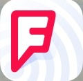 This is Foursquare's logo for the app.