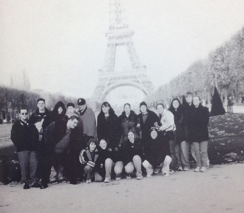 Gantz and some of his classmates visit France and Germany during a trip over Thanksgiving break.  Photo Courtesy of Calumet 2000
