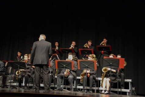 Poole conducts the Susquehannock High School Jazz Band