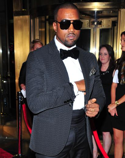 Trust Kanye for style advice. Except for the cummerbund. Photo courtesy Getty Images.