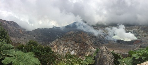 While on the trip, students visited Poás Volcano near San José.