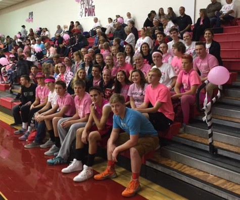 The student section filled up almost an entire section of the bleachers. Photo courtesy Maddy Mummert.