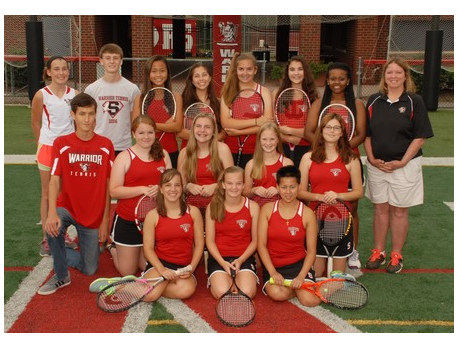 The 2015 Varsity Girls Tennis Team