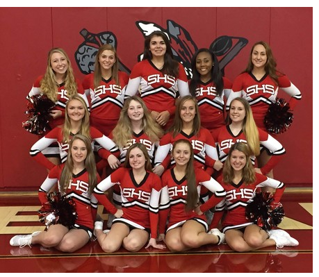 The 2015 Varsity/JV Cheerleading Team