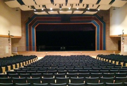 Auditions for musicals and plays take place in the high school auditorium.