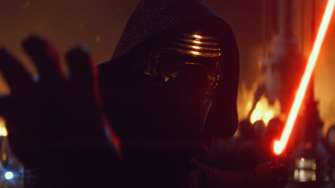 Kylo Ren giving us what I predict to be one of the iconic images of the new movie.