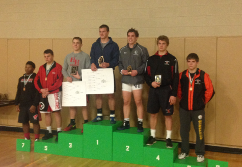 Junior Jack Allred placed 4th at Donegal's wrestling tournament December 19th. Photo By: Brad Keeney