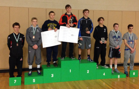 Senior Mike Younkin placed 7th at Donegal's wrestling tournament December 19th. Photo By: Brad Keeney