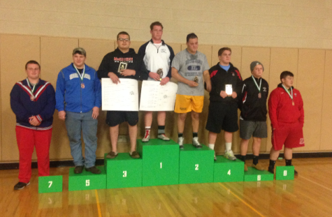 Junior Lee Cook placed 6th at Donegal's wrestling tournament December 19th. Photo By: Brad Keeney