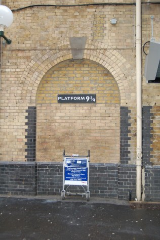After Rickman's death, this platform at King's Cross Station was transformed into a tribute to the late actor.