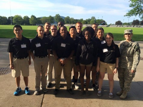 Duffy joins other prospective cadets at the summer leadership experience at West Point. Photo Courtesy of Brigit Duffy