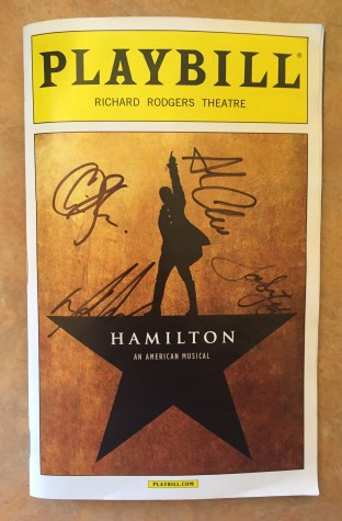 Sophomore Erin Kaliszak saw the musical on December 5 and got her program signed by some of the cast members. Photo Courtesy of Erin Kaliszak