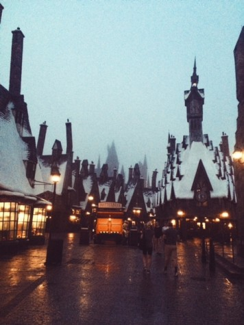 This is Hogsmeade at the Wizarding World of Harry Potter in Orlando.