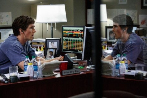 Christian Bale discovers financial distress in The Big Short. Courtesy Paramount Pictures.