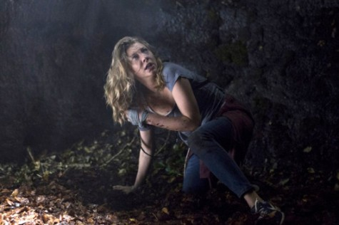"""Natalie Dormer is spooked by something in """"The Forest."""" Courtesy Gramercy Pictures."""