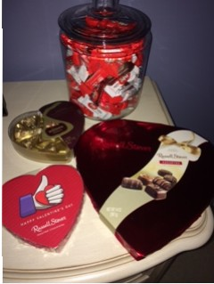 People are stocking up on Valentine's Day chocolates to buy for their special someone.