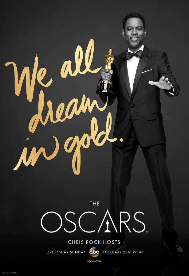 Chris Rock hosts the 88th Oscars on Sunday, Feb. 28 at 7 p.m. Poster courtesy ABC.