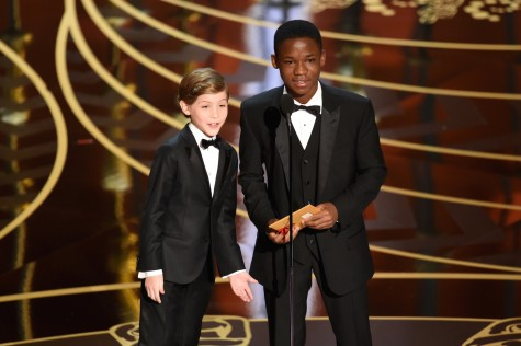 Jacob Tremblay and Abraham Attah take the stage. Photo by Kevin Winter/Getty.