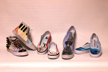Last year's shoes created by students.