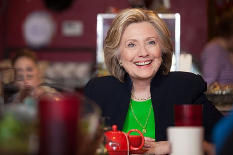 Hillary Clinton, with a total of 1.147 pledged delegates, seems to be the frontrunner for the Democratic nomination. Photo By: Hillary for Iowa [CC BY 2.0 (http://creativecommons.org/licenses/by/2.0)], via Wikimedia Commons