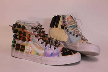 Students do not necessarily have to make the shoes wearable. They can just use the shoes as a base.