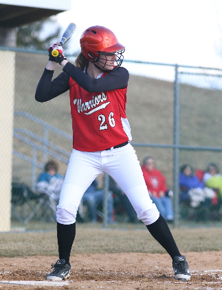 Junior Mackenzie Gibson is ready for her third season of varsity softball. Photo by Mike Inkrote.