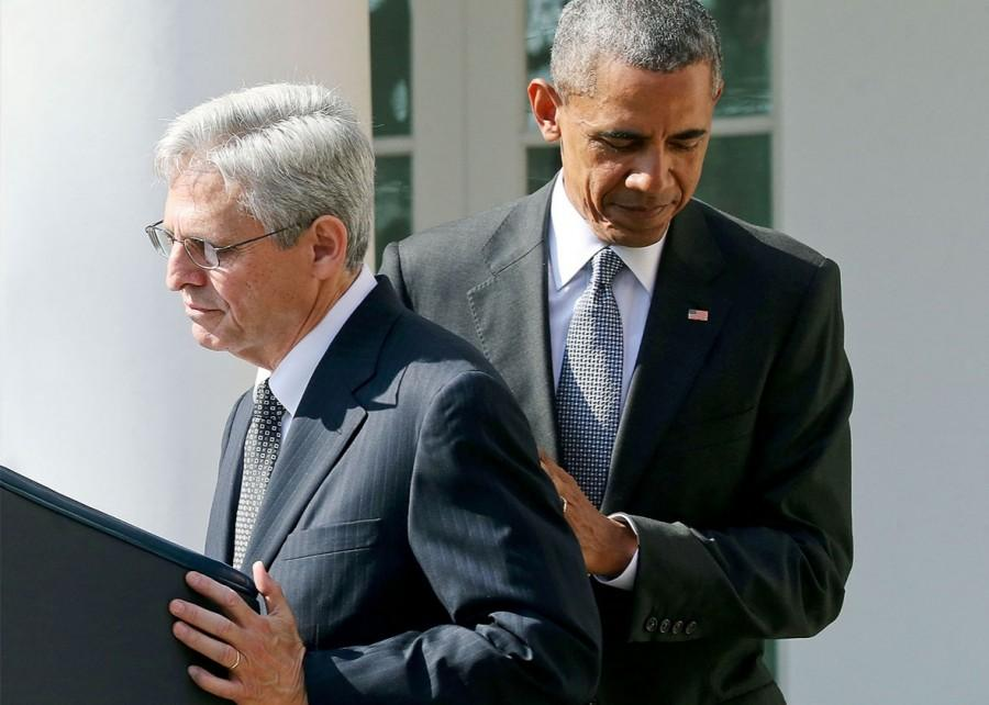 President Obama introduces Judge Merrick Garland on Wednesday. Photo courtesy Mark Wilson/Getty Images.