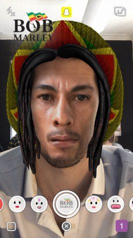 The new Bob Marley filter. Photo By Snapchat, Inc. [Public domain],