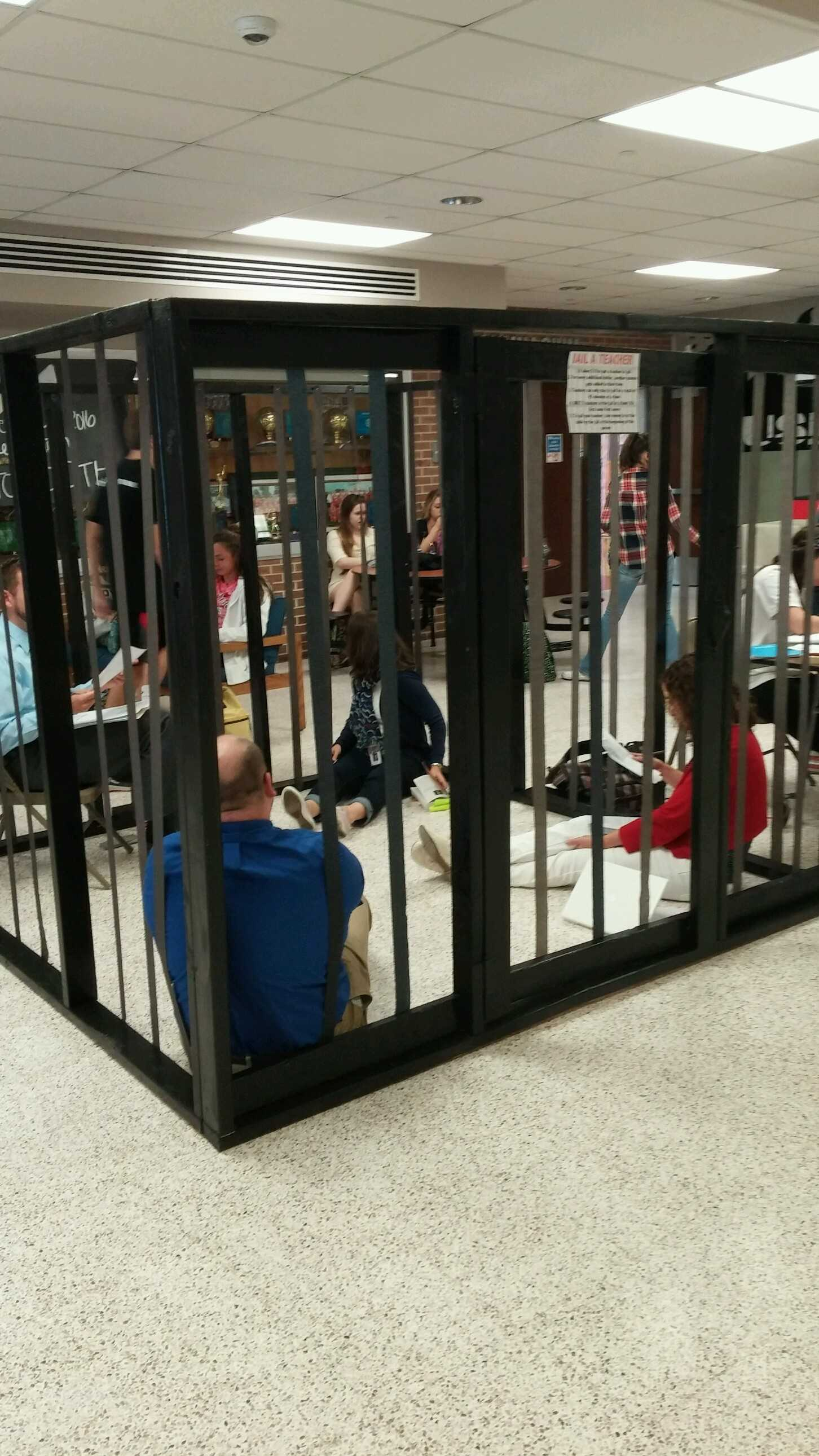 Multiple teachers were jailed at the same time throughout the day.