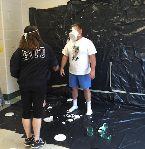 Physical education and health teacher Tony Sorice volunteered to get