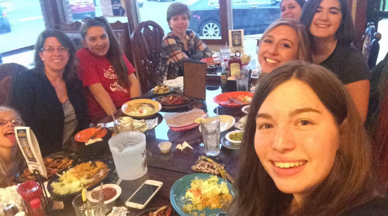 Students socialized and tried new types of food at the restaurant. Photo courtesy of Lizzie Vesper.