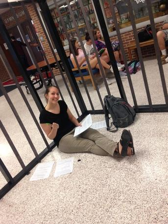 Jennie Bonitz was ecstatic to have a break from teaching.