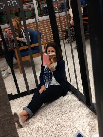 Katherine Wilt decided to read a book while locked up.