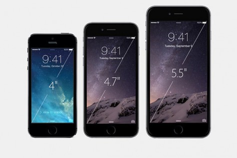 The iPhones compared in size. Photo By Khalid Mahmood (Own work)