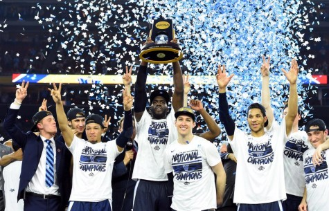 Villanova raises their championship title. Photo By Ijhaniff (Own work)