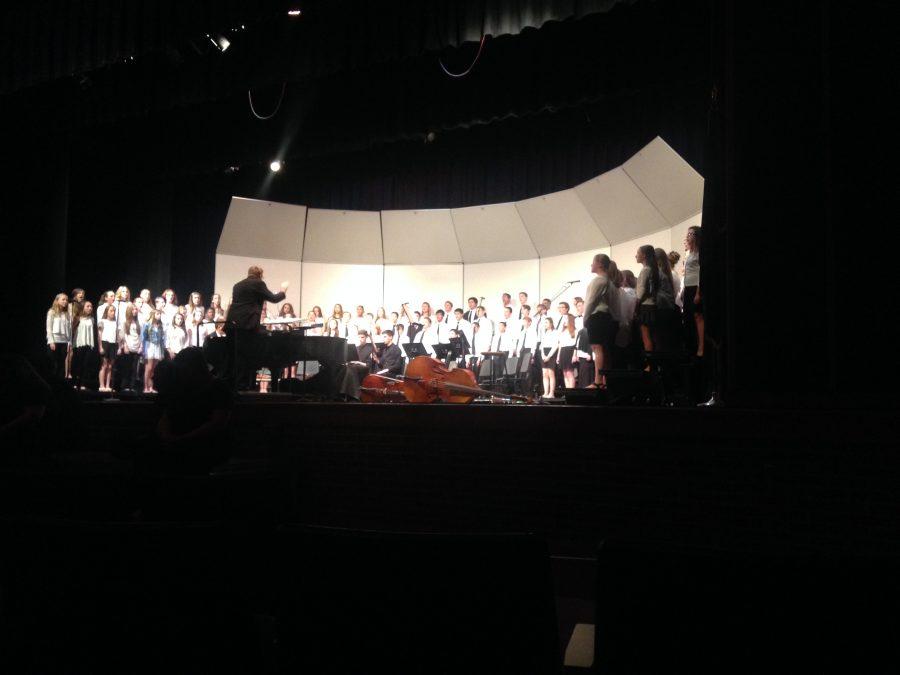 The+choir+concert+took+place+in+Susquehannock+High+School%27s+auditorium.