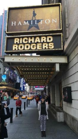 The Richard Rogers theater is home to the most successful show Broadway has seen in years - Hamilton.