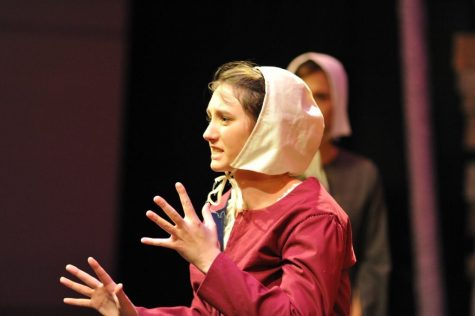 Weber performs in The Crucible as a senior. Photo By Brooke Weber