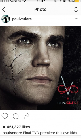 Paul Wesley, better known as Stefen from Vampire Diaries, announces the Season 8 premier on Instagram. Photo credits to @paulvedere.