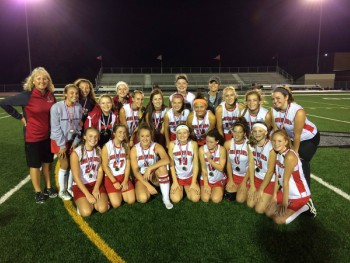 The team poses for a photo after playing at the county tournament against Dallastown. Photo from Warrior Fieldhockey Twitter