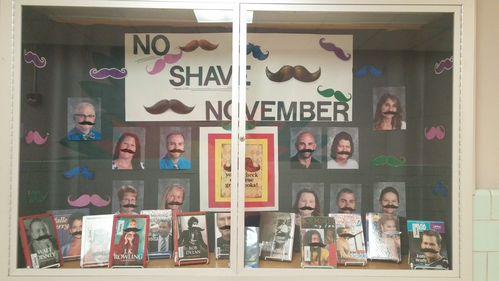 No Shave November is displayed and advertised around the school. Photo by: Ariel Barbera