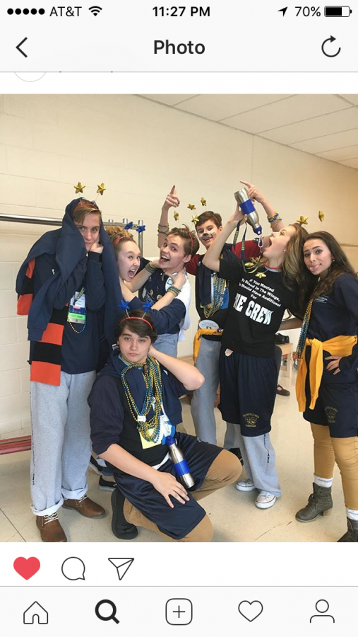 STO candidates showed off their ITS festival apparel after the fashion show. Candidates took part in different activities like the fashion show in order for students to get to know them better. Junior Kaleb Fair was appointed to be a State Thespian Officer.