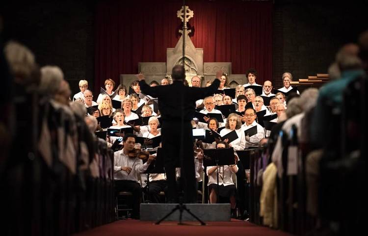 This picture above is of the Mount Desert Summer Chorale in Maine which Nealon is a member of. The choir consists of people from all over the world.
