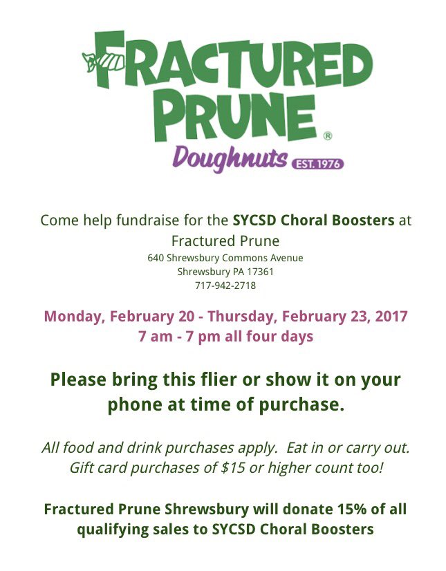 The+Fractured+Prune+is+fundraising+the+SYCSD+Choral+Boosters.+Bring+this+flier+to+every+purchase+to+participate.+Photo+Courtesy%3A+SYCSD+Choral+Department
