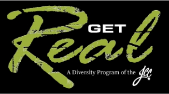 The official logo to the Get Real program.