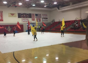 Indoor Color Guard Starts Off the Season