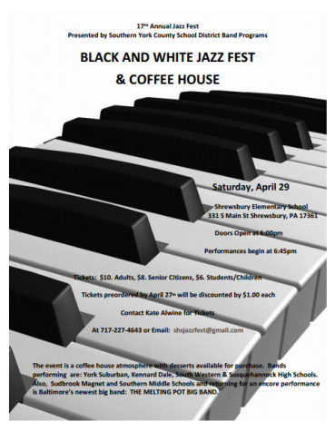 Band Boosters Announce Black and White Jazz fest and Coffee House