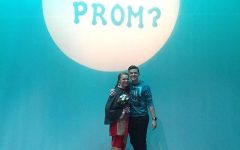 Junior Brendan Paules asked his girlfriend, junior Erin Kaliszak, to prom during a rehearsal for Shrek: The Musical.