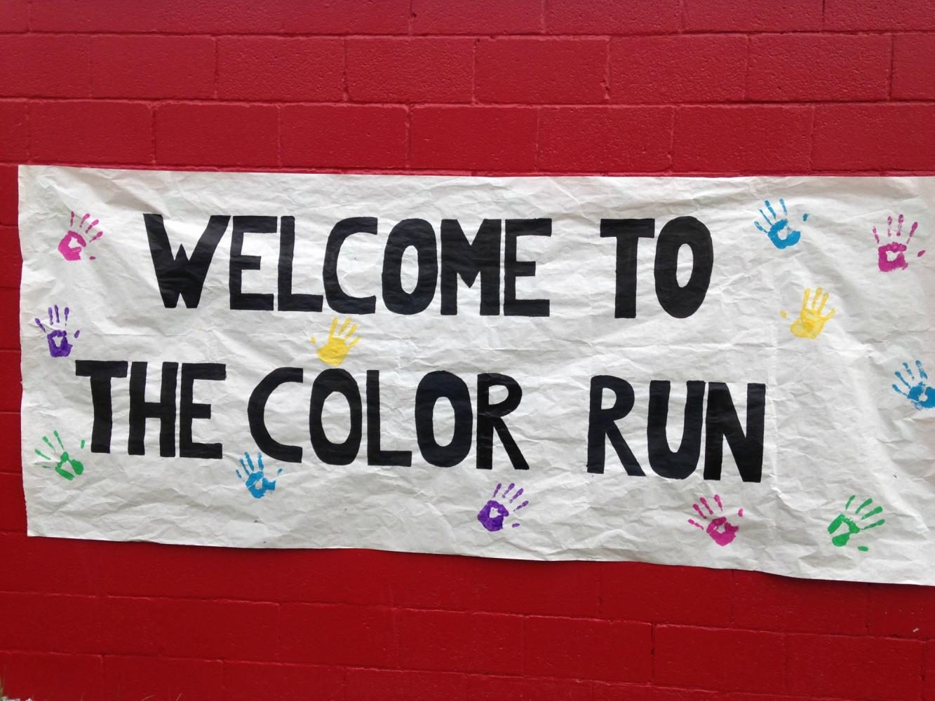 Five businesses were able to sponsor a color for the race.